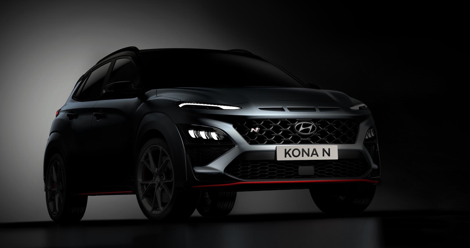 Hyundai odhaľuje prvé zábery nového modelu KONA N bez maskovania